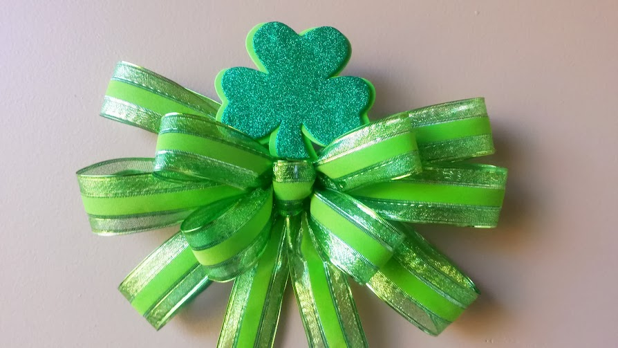 Shiney St. Patty's Day Bow