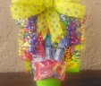 HAPPY BIRTHDAY THEME CANDY TOWER BOUQUET GIFT CENTERPIECE